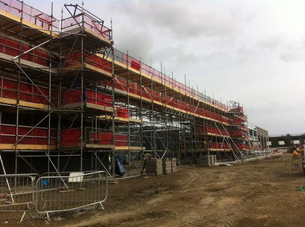 Scaffold currently on the new Asda at Hayle Cornwall. Working for Online Brickwork. @NASCscaffolding